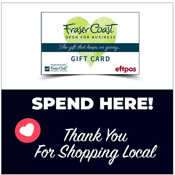 we also accept fraser coast gift cards